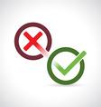 Yes and No symbols vector image