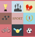 concept of set lifestyle sports equipment vector image