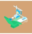 color isometric dental clinic vector image