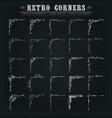 vintage corners borders and frames on chalkboard vector image