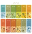 2013 calendar set vector | Price: 1 Credit (USD $1)