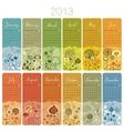 2013 Calendar Set vector image vector image
