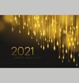 2021 realistic golden 3d inscription vector image vector image