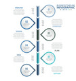 6 steps business infographics strategy timeline vector image vector image