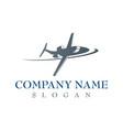 airplane company logo vector image vector image