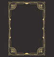 Art deco border template