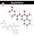 Aspartame molecular structure vector image vector image