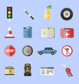 auto transport motorist icons symbol vehicle vector image vector image