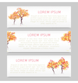 Autumn abstract trees vector image