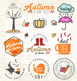 Autumn and Badges Set vector image vector image