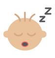 baby boy sleep flat icon child and infant vector image vector image