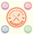 barbecue label stamp design element with text vector image vector image