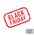 black friday rubber stamp with grunge texture vector image vector image