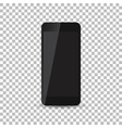 black realistic smartphone icon on isolated vector image