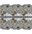 Black seamless lace wide belt on a white vector image