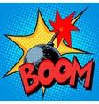 Boom bomb blast comic style vector image vector image