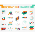 Business and social infographics design elements vector image vector image