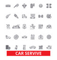 car service mechanic engine parts wash tires vector image vector image