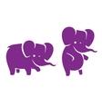 Cartoon elephant logo vector image
