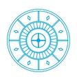 casino roulette icon vector image vector image