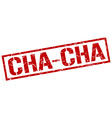 cha-cha stamp vector image vector image