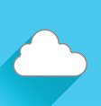 cloud flat icon vector image vector image