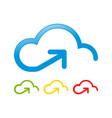 cloud storage upstream send access symbol logo vector image
