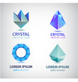 collection geometric polygon logos vector image