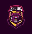 colorful logo bear s head an aggressive beast