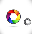 Colorwheel rainbow bright colorful sign vector image