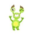 Cool Funny Monster Teethy Smile Green Alien Emoji vector image vector image