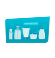 cosmetics package collection realistic set of vector image