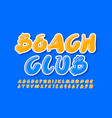 creative banner beach club with yellow arti vector image vector image