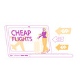 discount airline offer cheap flight travel vector image vector image