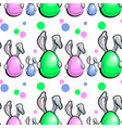 egg with rabbit pattern vector image