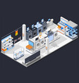 electrical shop isometric composition vector image