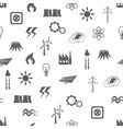 energy seamless pattern vector image vector image