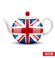 English ceramic teapot with flag of Great Britain vector image vector image