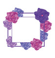 flower arrangement frame vector image