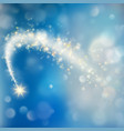 glittering bokeh star dust template eps 10 vector image