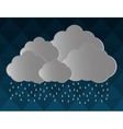 gray cloud icon design vector image