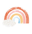 hand drawn rainbow in cartoon vector image vector image