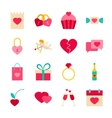 Happy Valentines Day Objects vector image vector image