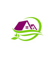 house green leaf nature logo vector image vector image