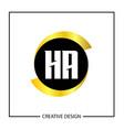 initial letter ha logo template design vector image vector image