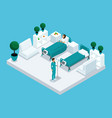 isometry hospital chamber vector image vector image