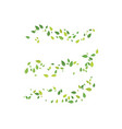 leaf ecology nature logo template vector image