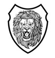 lion aggry king drawing black amp white vector image vector image