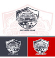 logo club suv drivers mock up is made in one vector image vector image