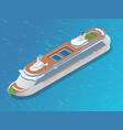 luxury cruise ship a modern liner is in an ocean vector image vector image